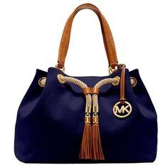 Michael Kors purse handbag navyblue My Polyvore Addiction ❤ liked on Polyvore featuring bags, handbags, blue handbags, blue bag and blue purse
