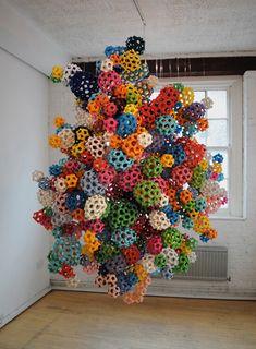 Massive modular origami installation by James Roper