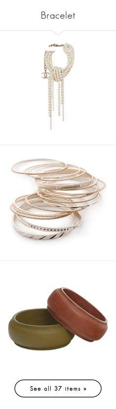 """Bracelet"" by alina-chipchikova ❤ liked on Polyvore featuring jewelry, bracelets, chanel, costume jewellery, costume jewelry, iridescent jewelry, gold silver, yellow gold bangle bracelet, silver bracelet bangle and gold bangle bracelet set"