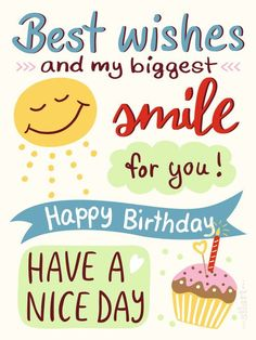 Best Birthday Quotes Smile Happy Geburtstagskarte Birthdaycard Illustration
