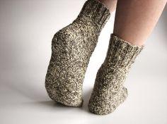 Melange Hand Knitted Wool Socks,  Natural Organic by milleta on Etsy, €19.00