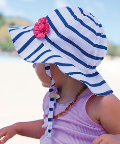 This White  amp  Navy Skipper Bucket Hat by Millymook  amp  Dozer is  perfect! Toddler Sun HatBaby ... 1ba5478da90c