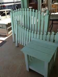 White Picket Fence Bed Frame