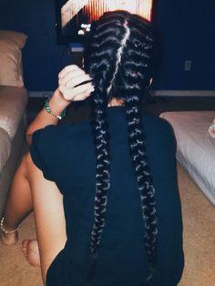 Split French braids Pinterest: @ cheyennekennedy