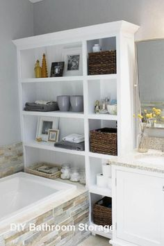 best small bathroom storage ideas for . We've already done the work for you when it comes to finding and curating small bathroom storage ideas. Small Bathroom Cabinets, White Bathroom Storage, Compact Bathroom, Bathroom Furniture, Bathroom Ideas, Bathroom Remodeling, Bathroom Organization, Remodeling Ideas, Organization Ideas