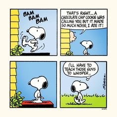 Snoopy hears cookie