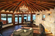 Horseshoe Bay Rotunda Rustic Spanish Lake House by Zbranek and Holt