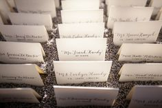 Gorgeous California Wedding at Viansa Winery from  Arrowood Photography - wedding escort card idea