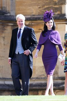Earl Charles Spencer & Countess Karen Spencer from Meghan Markle and Prince Harry's Royal Wedding Guests Princess Diana's younger brother and his wife arrived for their nephew's milestone day. Pippa Middleton, Prince Harry Wedding, Harry And Meghan Wedding, Kitty Spencer Royal Wedding, Meghan Markle, Karen Spencer, Charles Spencer, Amelia Spencer, Louis Spencer