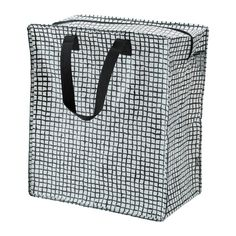 IKEA - KNALLA, Bag, $2.49, Perfect for transporting most things, from clothes and groceries to recyclable items.The contents won't fall out since the top zips closed.You can do something good for the environment by using this bag instead of disposable bags.Easy to clean by just wiping with a cloth dampened with water.