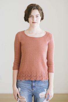 june pullover designed by cecily glowik macdonald / from the piper 2016 collection by the quince & co. design team / in quince & co. piper