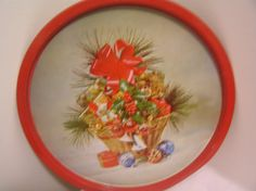 Hey, I found this really awesome Etsy listing at https://www.etsy.com/listing/493078715/vintage-christmas-tin-tray-holly-basket