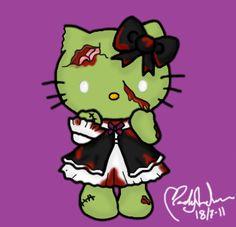 Zombie Hello Kitty by Primegirl.deviantart.com on @deviantART