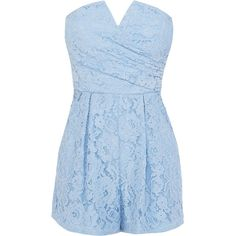 Sale Trousers   Blues LACE KANDIS PLAYSUIT   Coast Stores Limited (580 MAD) ❤ liked on Polyvore featuring pants, blue trousers, lace pants, blue pants and lace trousers