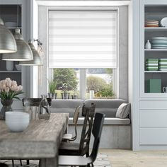 Enjoy Dimout White Roller Blind from Blinds 2go