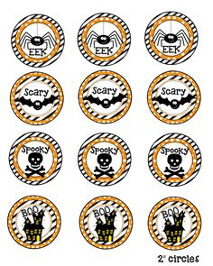 Halloween Printable 2 Cupcake / Food Toppers! set of 12  These adorable little toppers will help you spread the fun this Halloween! Send to