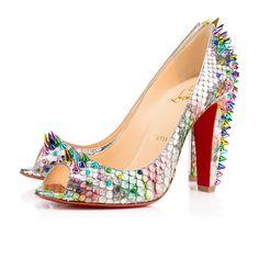 5cade8c4e690 CHRISTIAN LOUBOUTIN Jurayoo 100 Multi Multi Metal Python Arc En Ciel -  Women Shoes -