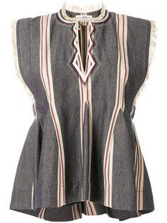 frayed sleeveless top