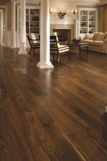 Dark Hardwood Floors Light Colored Knots, I love the transition from the wood to the laminate Home
