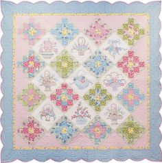 free pattern from Robert Kaufman. Sweet Daisy Dreams quilt.