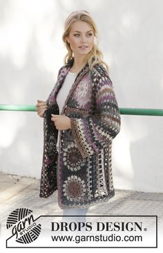 57 Best Ideas for crochet granny square poncho pattern drops design Point Granny Au Crochet, Cardigan Au Crochet, Gilet Crochet, Crochet Coat, Crochet Gloves, Crochet Jacket, Knit Cowl, Kids Poncho Pattern, Cardigan Pattern