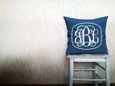 Custom monogrammed pillow decorative throw by HomeLivingIdeas, $39.80