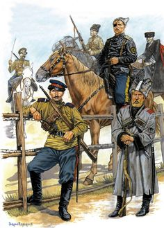 White Army Cossack troops during the Russian Civil War
