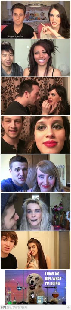 Makeup done by boyfriend. - I so wanna try this with my boyfriend someday!!