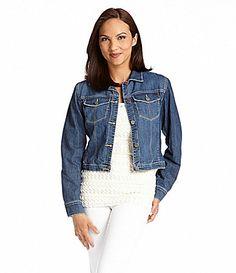 Karen Kane Topstitch Denim Jacket #Dillards