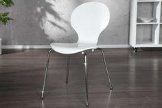 Jedálenské stoličky - moderné : Stolička Frame biela