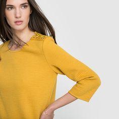 Sweatshirt mit 3/4-Ärmeln SUNCOO Pullover, Turtle Neck, Sweaters, Fashion, Woman, Women's, Moda, Fashion Styles, Sweater