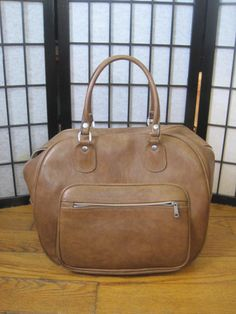 Vintage 1960s 1970s Tote Small Suitcase Taupe Brown by girlgal6, $44.00