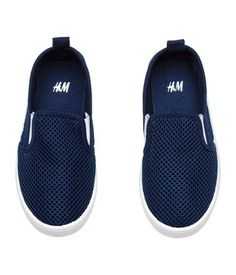 169a3f5d5f Dark blue. Slip-on shoes with elastic panels at sides and a loop at