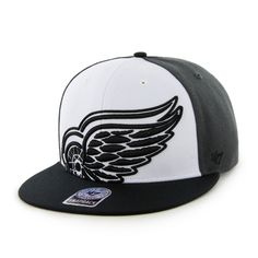 237ef12812074  47 Brand   DETROIT RED WINGS CHARCOAL Tri-Color Colossal Snapback  Adjustable