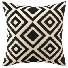 Living in black and white... home decor with style... Trina Turk Geometric Pillow