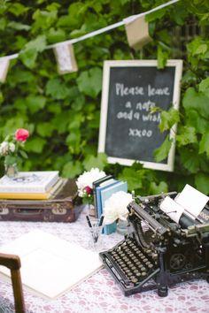 typemachine gebruiken voor gastenboek?