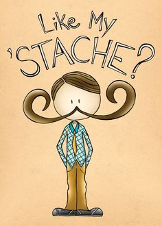 5x7 Like My 'Stache from pigdogonline etsy shop