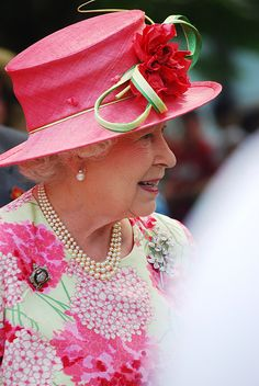 This woman is so elegant!  I got to see her in person this past summer in Toronto.  Queen Elizabeth.