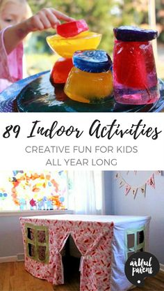 A complete list of creative indoor activities for kids that are sure to keep them busy and parents sane. Screen-free, engaging and fun!