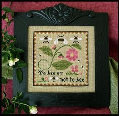 Bee Sampler - Cross Stitch Pattern  by Little House Needleworks