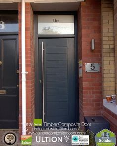 Anthracite Grey Palermo with top light Solidor Timber Composite Door, from TimberCompositeDoors.com with 12 Months 0% Interest Free Credit, fitted to any postcode in the UK secured with Ultion 3 star diamond locks as standard. Design, Price & Order yours online today