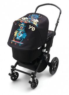 BUGABOO CAMELEON3 BY NIARK1 - MONSTERS ON THE MOVE LIMITED EDITION - COMPLETE STROLLER