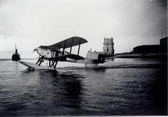 Gago Coutinho and Sacadura Cabral departure from Lisbon in 1922 for their successful trip fro the Atlantic. destination Rio de Janeiro.  http://www.fotolog.com/