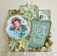 Into my happy space: Let the sea set you free - DTcard for Marvelous Magnolia
