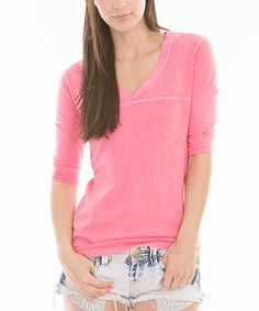 Look at this Venley by Youth Monument Blush V-Neck Tee on #zulily today!
