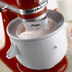 KitchenAid Ice Cream Maker isn't a stand alone ice cream maker. With model number , you have to use it with the KitchenAid mixer. It is a great attachment to get if you already have the mixer and you want to create great tasting frozen desserts. Kitchenaid Ice Cream Maker, Best Kitchenaid Mixer, Kitchenaid Ice Cream Attachment, Kitchenaid Artisan, Kitchen Aid Ice Cream, Kitchen Aid Mixer Attachments, Kitchenaid Attachments, Kitchen Aid Recipes, Kitchen Aide