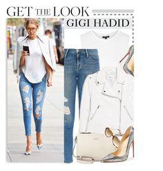 """Celebrity Look: Gigi Hadid"" by monmondefou ❤ liked on Polyvore featuring Topshop, Frame Denim, Christian Louboutin, MANGO, Kate Spade, Shauns, celebrity, CelebrityLook, CelebrityStyle and gigihadid"
