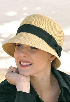 Cloche Hat - Straw Sun Protection Hat for Women Sombrero A Crochet, Hat Crochet, Chrochet, Hats For Cancer Patients, Fedora Hat Women, Women Hats, Ladies Hats, Sun Protection Hat, Mad Hatter Hats