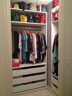 A PAX wardrobe can be a simple solution to extra storage space in your entryway - and they look great, too!