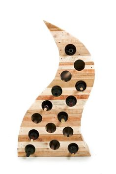 #Pallets: Reclaimed (pallet) wood wine rack